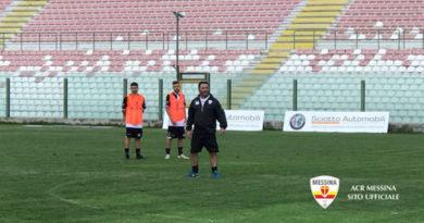 I calciatori convocati da Biagioni per Messina-Locri