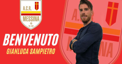 Il Messina ha ingaggiato l'esperto centrocampista Gianluca Sampietro