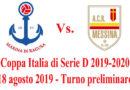 Coppa Italia di Serie D, esordio per il Messina a Marina di Ragusa