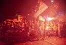 Presentato il Messina in una piazza Duomo giallorossa tra l'entusiasmo dei tifosi