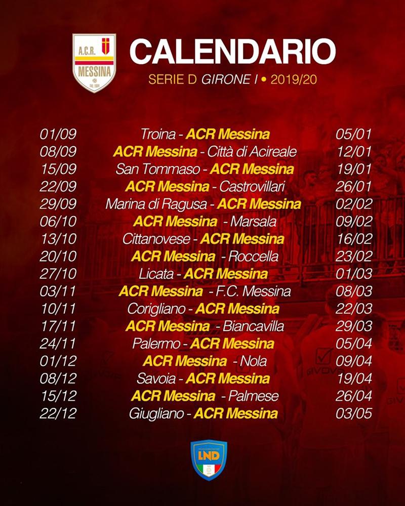 Calendario Serie D Girone H 2020 2020.Diramati I Calendari Della Serie D Esordio Fuori Casa Per