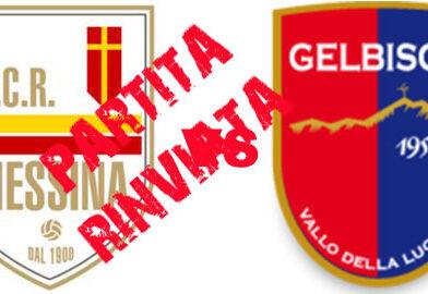 Rinviato il match tra Messina e Gelbison